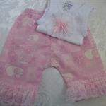 New Born - Pretty in Pink Harem Pants & Appliqued Singlet