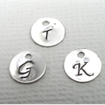Sterling Silver Custom Initial Charm
