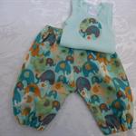 New Born - Elephants Harem Pants & Appliqued Singlet