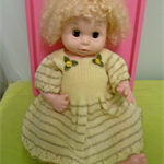 Knitted Yellow Dress &Briefs Baby Born/Reborn/large Doll Size