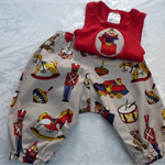 New Born - Playtime Harem Pants & Appliqued Singlet
