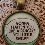 Comic Speech Bubble Quote Resin Necklace