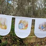 Beatrix Potter Bunting Wall Hanging Tale of Peter Rabbit Children Animal