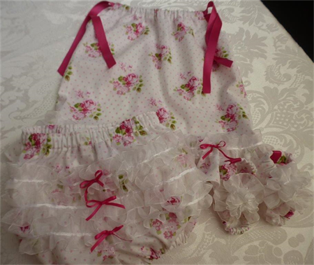 """Size 6 months - """"Sunshine Roses"""" Dress, Pants and Shoes"""