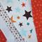 All Star Fabric Bunting - Boys - Orange, Blue & White - 3m