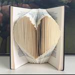 Folded Book Sculpture - Heart