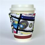 Coffee Cup Cuff/ Cosy - Retro Music Cassettes