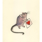 Valentine mouse Love art print - A4 print