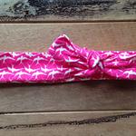 Pink sparrows headtie