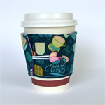 Coffee Cup Cuff/ Cosy - Flying Tea Cups