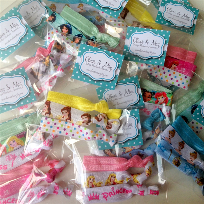 8 X 3 Disney Princess Birthday Party Favor Variety Packs FOE Elastic Hair Ties