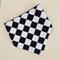 Checkerboard bandana dribble bib