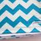 Aqua and White Zig Zag/Chevron Flannel Baby Blanket