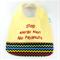 Allegy Alert Bib - No Peanut Cotton Fabric, Bamboo Toweling, Snap fastened