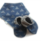 Blue Triangle Baby Shoes & Bandanna Gift Set