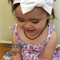 Classic white bow stretch headband