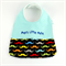 Bib - Pop's Little Mate, Moustache Cotton Fabric, Bamboo Toweling,Snap Fastened.
