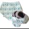 Scandinavian Floral Print Baby Shoes & Bandanna Bib Gift Set