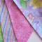 Glitter Butterfly Fabric Bunting - Butterflies, Swirls, Stripes & Spots - 3m
