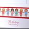 Birthday hugs & wishes sweet little dolls friends handmade card