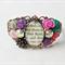 Jane Eyre Cuff Bangle Bracelet Vintage Flower Leaf Cabochon Charlotte Bronte