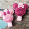 Sequin Minnie Mouse Clips  (Pink/H-Pink)