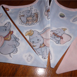 """dream"" Dumbo the Elephant bunting -  baby girls' nursery, gift pastels"