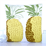 Yellow pineapple cushion cover pillow retro kitsch fruit cushions tropical 70s