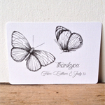 Butterfly thank you cards - set of 10