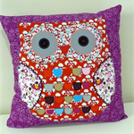 Cushion Cover Pillow Cover - Purple Owl applique 40cm 16 inches