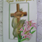 """Easter Card / """"God Bless You""""/ traditional Easter theme"""