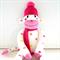 'Tia' the Tutti Frutti Spotted Sock Monkey  - *ready to post*