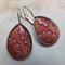 Dusty Pink Flower Teardrop Earrings