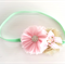 Mint Pink and Gold Party Headband Flower Headband Baby Girl