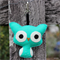 Owl Keyring or Bag Tag in your colour choice.