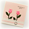 THINKING OF YOU card fabric pink tulips limited edition