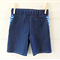 Boys denim and blue chevron patterned shorts