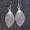 Skeleton Leaf ~ Silver Plate Earrings