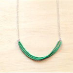 GREEN LONG COLOUR BASICS NECKLACE - FREE SHIPPING WORLDWIDE