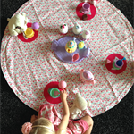 Tea Party Play mat and Storage Bag