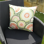 Pillow Throw Cushion Cover - Green Mediterranean Morrocan Tiles Terracotta 45cm