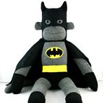 'Batman' the Sock Monkey (Superhero) - *ready to post*
