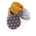 Yellow Swiss Cross Baby Shoes