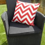 Pillow Throw Cushion Cover - Red chevron 45cm 18 inches
