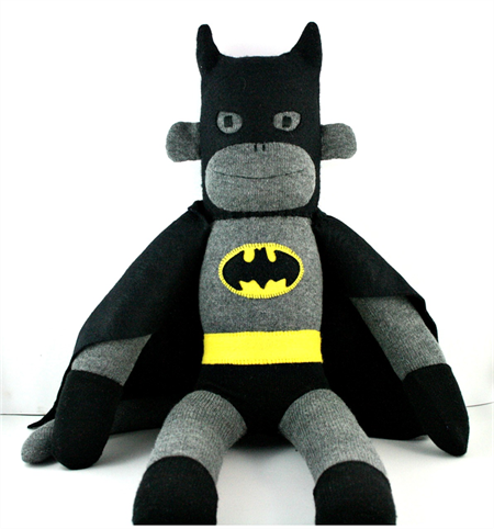'Batmonkey' the Sock Monkey (Superhero) - *MADE TO ORDER*