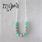 Midi tiffany blue silicone and untreated maple wood long teething necklace