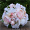 Silk wedding bouquet in shades of blush and white - Adalyn bouquet