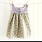 baby dress | lilac crochet & delicate lemon floral | size months | vintage style