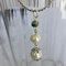 Pearl & Cloisonne Beaded Pendant on Rhodium Plated Chain