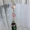 Lampwork, Pearl & Czech Glass Beaded Pendant on Rhodium Plated Chain